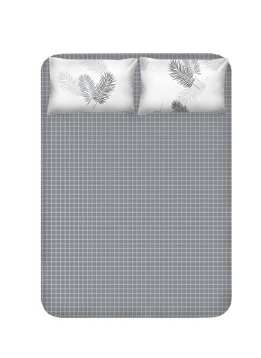 EnLora Home Enlora %100 Doğal Pamuk Çarşaf+Yastık Seti Çift Kişilik Pipong Gri